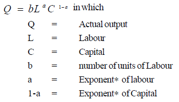 cobb douglas production function pdf